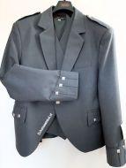 Argyle Kilt Jacket, Licht grijs, maat 48L, MET binnenvest