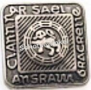Button, Ancient Silver (per stuk)