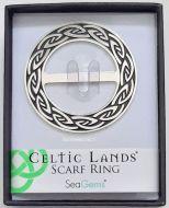 Scarf Ring, Sea Gems, 6 cm